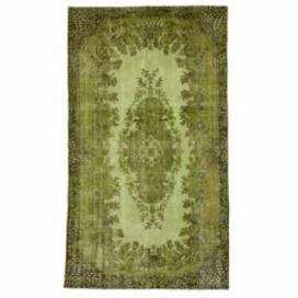 Vintage tapis recolorés couleur vert (166x285cm)