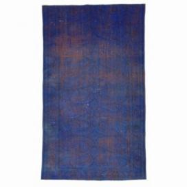 Vintage recoloured rug color purple (162x272cm)