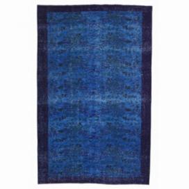 Vintage recoloured rug color petrol (164x266cm)