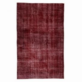 Vintage recoloured rug color red (156x254cm)