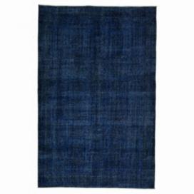 Vintage recoloured rug color blue (166x255cm)