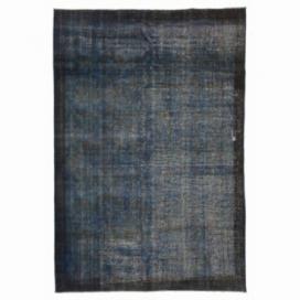 Vintage recoloured rug color blue (193x280cm)