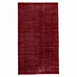 Vintage recoloured rug color red (140x243cm)