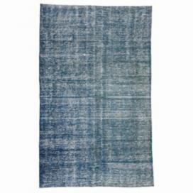 Vintage recoloured rug color blue (184x292cm)