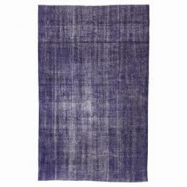 Vintage recoloured rug color purple (161x261cm)