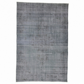 Vintage recoloured rug color grey (175x270cm)