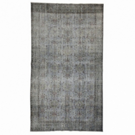 Vintage recoloured rug color grey (170x298cm)