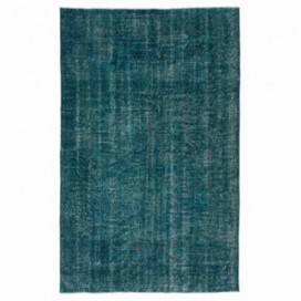 Vintage recoloured rug color turquoise (165x263cm)