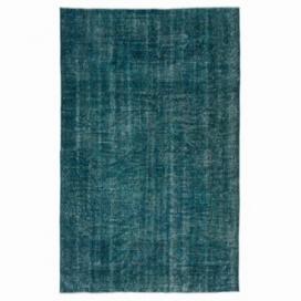 Vintage recoloured rug kleur turquoise (165x263cm)