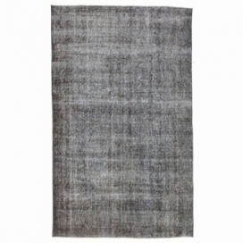 Vintage recoloured rug color grey (158x259cm)