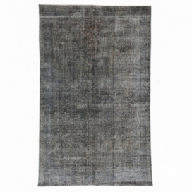Vintage recoloured rug color grey (183x287cm)