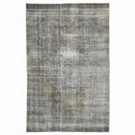 Vintage alfombra recolored color gris (182x283cm)