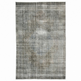 Vintage recoloured rug color grey (182x283cm)