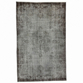 Vintage recoloured rug color grey (170x273cm)