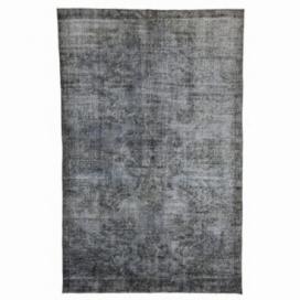 Vintage alfombra recolored color gris (193x295cm)