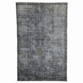 Vintage recoloured rug color grey (193x295cm)