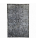 Vintage recoloured rug color grey (193x295cm)