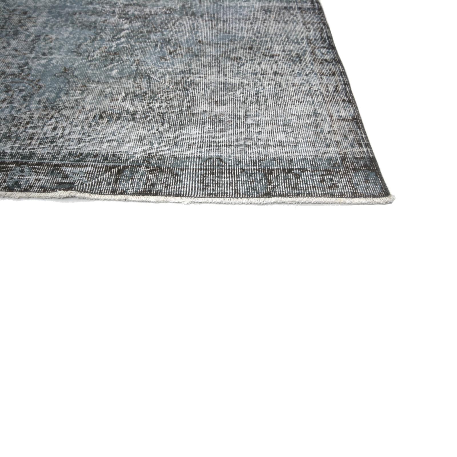 Grau vintage umgefärbt teppich (193x295cm)