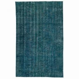 Vintage recoloured rug kleur turquoise (166x264cm)