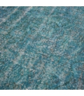 Vintage recoloured rug color turquoise (166x264cm)