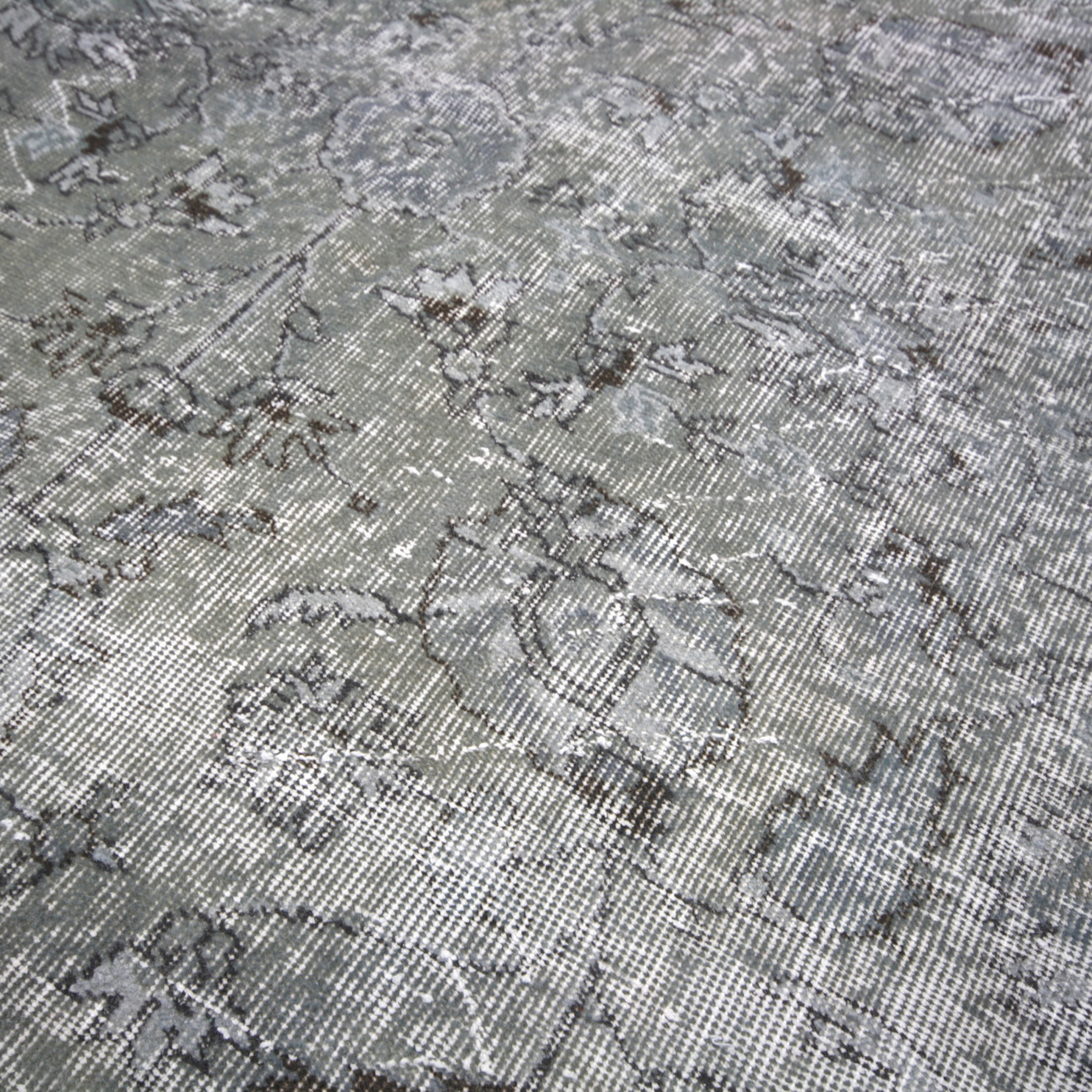 vintage alfombra recolored color gris 180x265cm