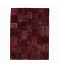 Vintage patchwork rug color bordeux red (276x370cm)
