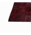 Vintage patchwork rug kleur bordeux red (276x370cm)