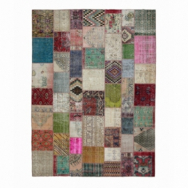 Vintage patchwork flicken teppich farbe various (300x406cm)
