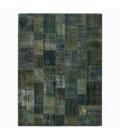 Vintage patchwork rug color indigo (365x276cm)