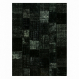 Vintage alfombra retazos color black (412x305cm)