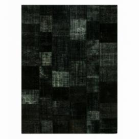 Vintage tapis de patchwork couleur black (412x305cm)