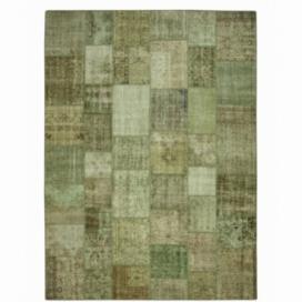 Vintage patchwork flicken teppich farbe natural (412x305cm)