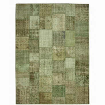 Vintage patchwork rug color natural (412x305cm)