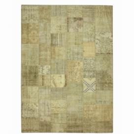 Vintage patchwork flicken teppich farbe natural (429x305cm)