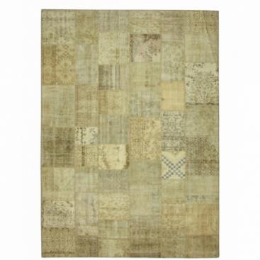 Vintage patchwork rug color natural (429x305cm)