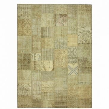 Vintage patchwork rug kleur natural (429x305cm)