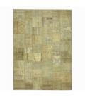 Vintage alfombra retazos color natural (429x305cm)