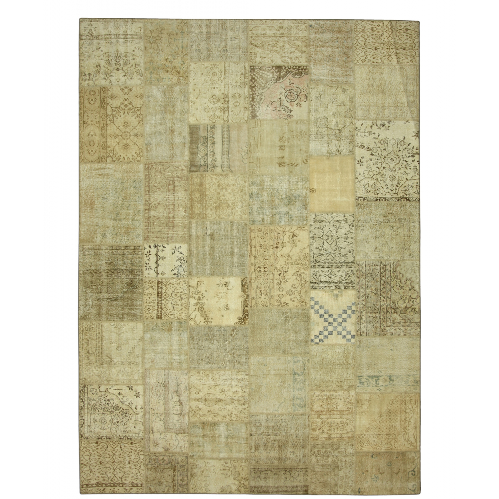 natural vintage patchwork flicken teppich 429x305cm. Black Bedroom Furniture Sets. Home Design Ideas