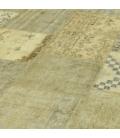 Vintage tapis de patchwork couleur natural (429x305cm)
