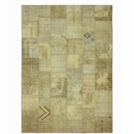 Vintage patchwork flicken teppich farbe natural (431x302cm)