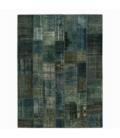 Vintage patchwork rug color indigo (268x275cm)