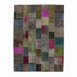 Vintage patchwork rug color various (276x369cm)