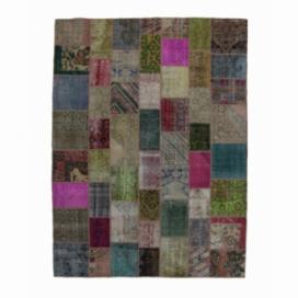 Vintage tapis de patchwork couleur various (276x369cm)