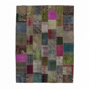 Vintage patchwork rug color various (276x369cm)