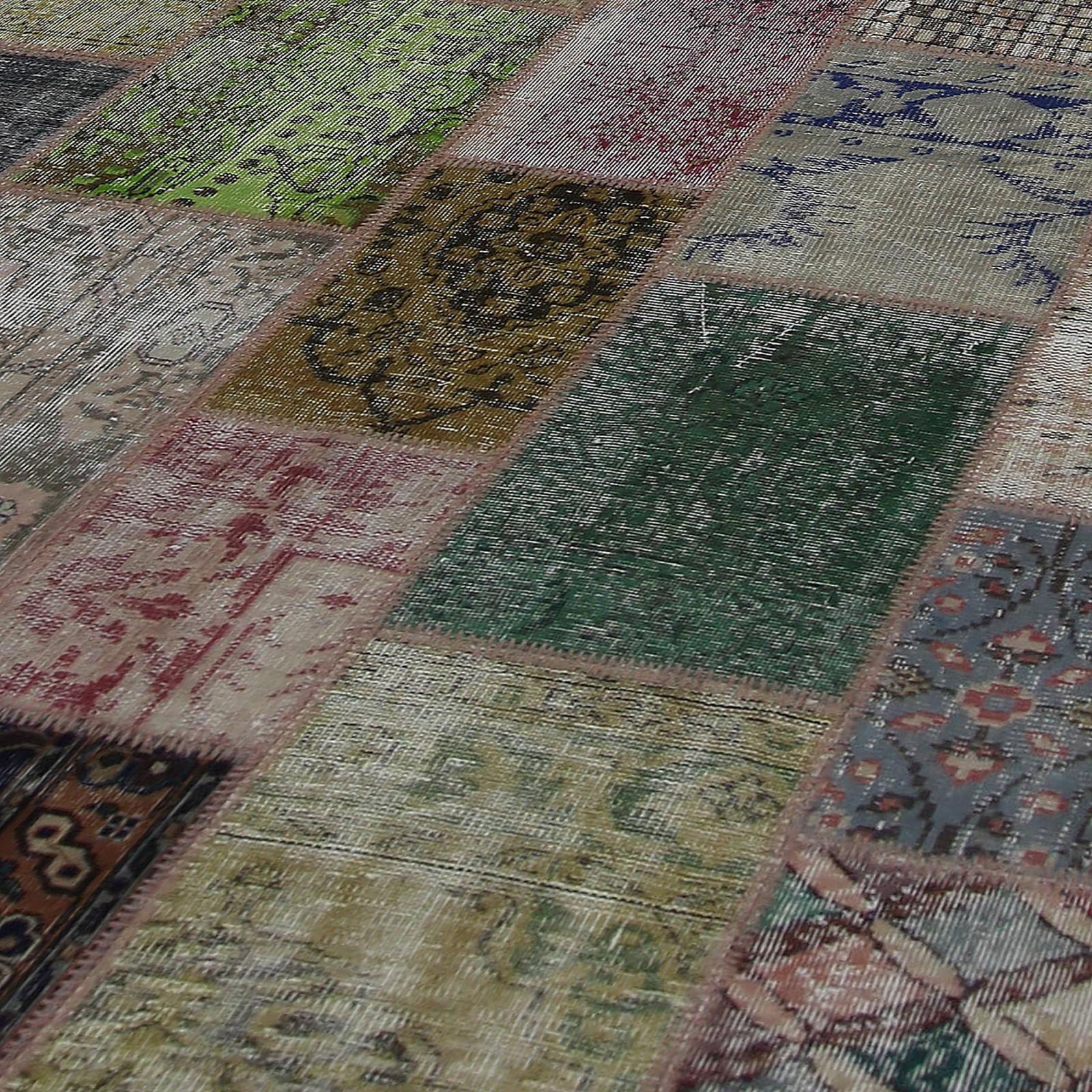 various vintage patchwork flicken teppich 276x369cm. Black Bedroom Furniture Sets. Home Design Ideas