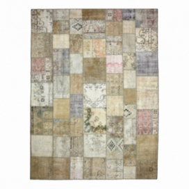 Vintage patchwork rug color natural (293x400cm)