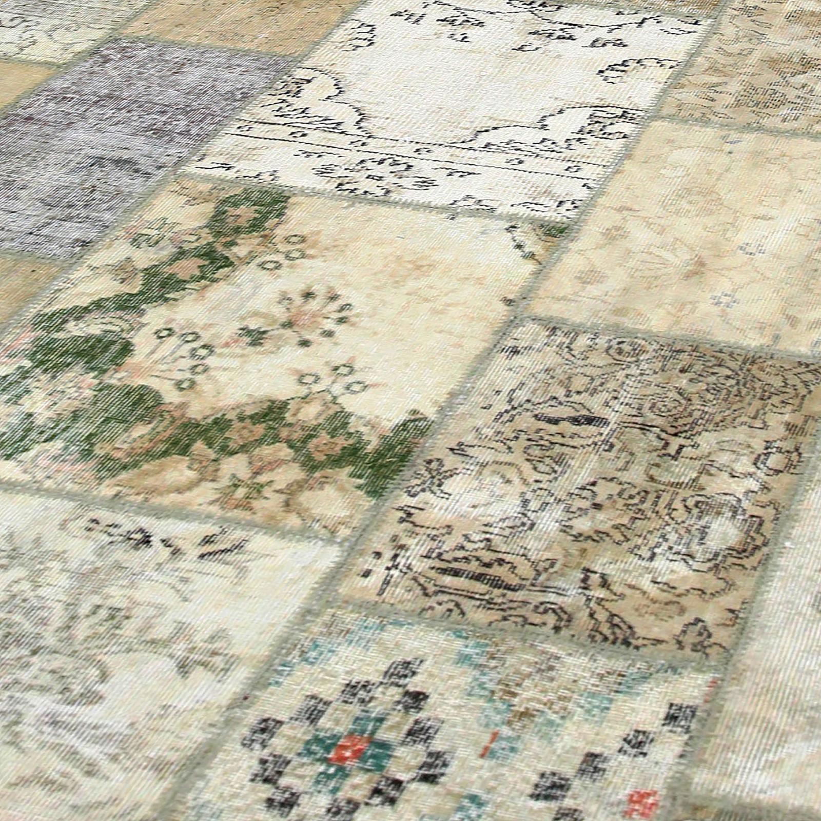 natural vintage patchwork flicken teppich 293x400cm. Black Bedroom Furniture Sets. Home Design Ideas