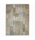 Vintage patchwork rug color natural (297x403cm)