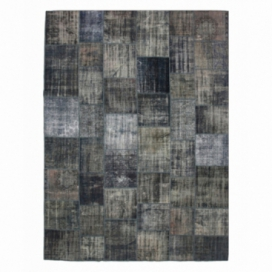 Vintage patchwork rug color grey (301x409cm)