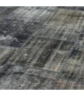 Vintage patchwork rug color grey (301x409cm)
